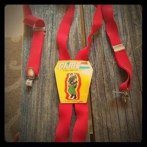 Vintage 1987 Hasbro G.I. Joe yellow red suspenders